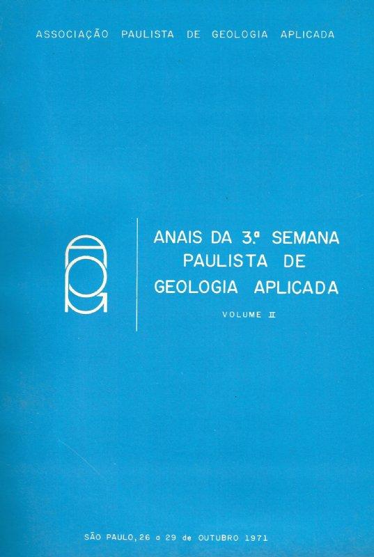 3º Semana Paulista de Geologia Aplicada- Digital