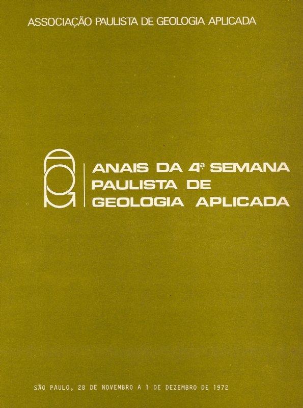 4º Semana Paulista de Geologia Aplicada- Digital