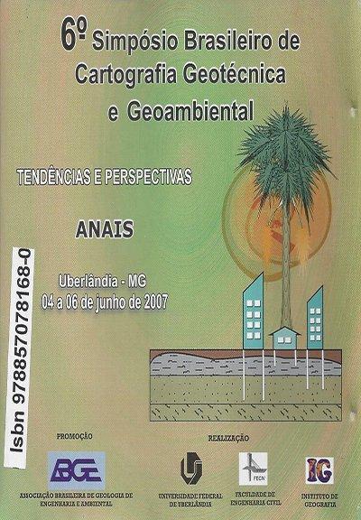 6º Simpósio Brasileiro de Cartografia Geotécnica