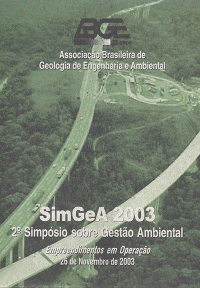 2º Simpósio Sobre Gestão Ambiental – SIMGEA